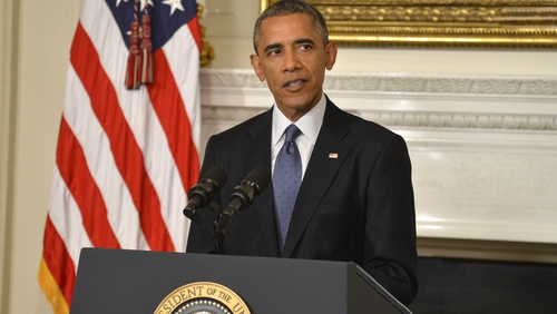 Barack Obama said 'America is coming to help' minority groups in Iraq