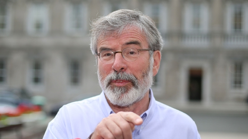 Gerry Adams said the political situation faces its greatest challenge since the Good Friday Agreement