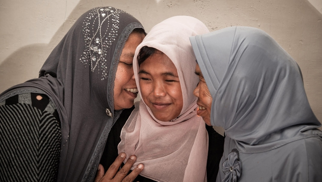 Raudhatul Jannah's family were overjoyed to see her again