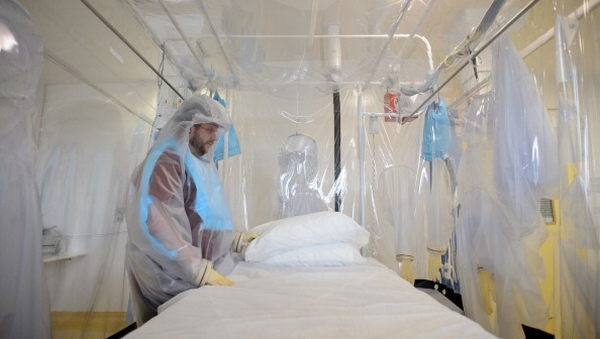 The patient showed symptoms of fever and flu, possible signs of the deadly Ebola virus