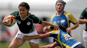 Tania Rosser scored Ireland's second try
