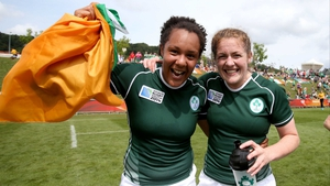 Sophie Spence and Fiona Coghlan celebrate