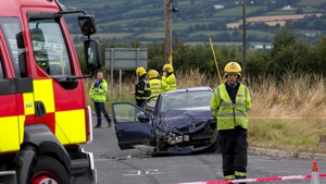 Seven people were injured in the Carlow crash, three seriously
