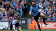 Bernard Brogan lines out at corner-forward