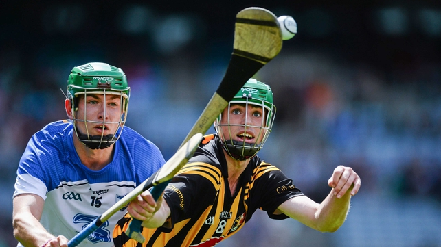 Tommy Walsh of Kilkenny and Waterford's Shane Ryan have their eye on the ball