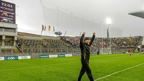 Kilkenny manager Brian Cody celebrates at the final whistle