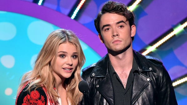 Chloe Grace Moretz with her If I Stay co-star Jamie Blackley