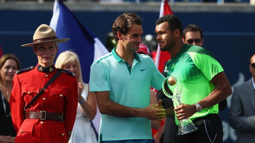 It was only Tsonga's fifth win in 16 career meetings with Federer