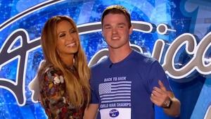 J.Lo - Made Michael Simeon's day (Screengrab: American Idol)