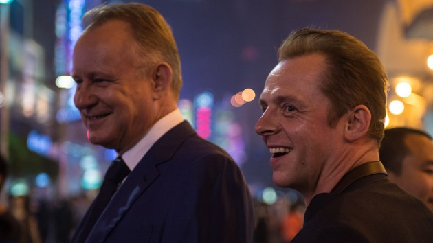 Stellan Skarsgård as the wealthy businessman who shows Hector (Simon Pegg) the bright lights of Shanghai