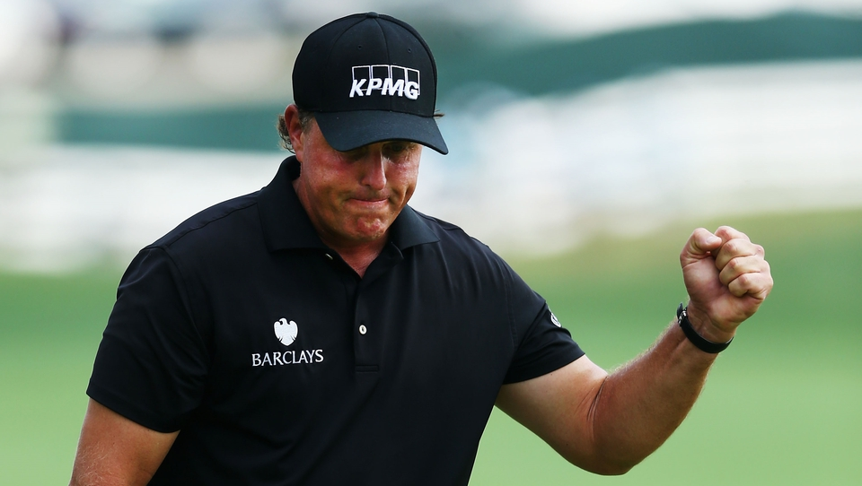 Phil Mickelson got early momentum with birdies at at the first and third hole and eventually shot 31 for the front nine