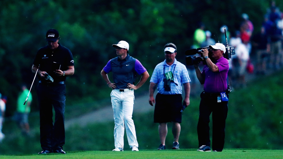 Gathering darkness meant he, Mickelson and Fowler played the final hole together, a sporting gesture McIlroy would later applaud