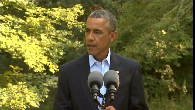 Mr Obama was speaking from Martha's Vineyard, where he is on holiday with his family