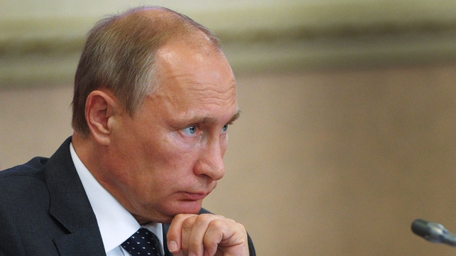 There are fears Vladimir Putin could send his forces into east Ukraine