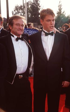Robin Williams and Matt Damon at the Screen Actors' Guild Awards, 1998