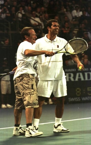 Robin Williams and Pete Sampras at The Mercedes Benz Cup Celebrity Gala, 1999