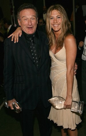 Robin Williams and Jennifer Aniston at the People's Choice Awards, 2007