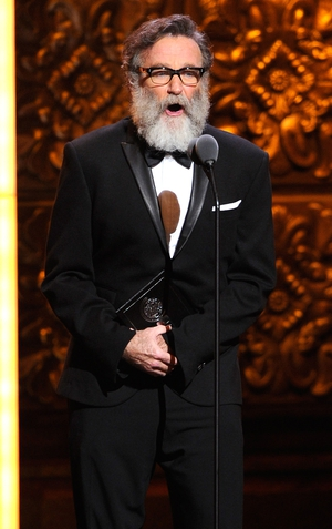 Robin Williams speaks on stage during the Tony Awards, 2011