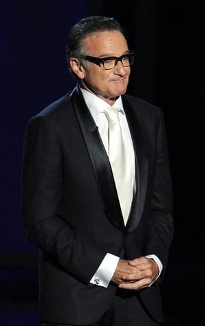 Robin Williams speaks onstage during the Emmy Awards, 2013