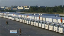 Russian aid convoy moving towards Ukraine