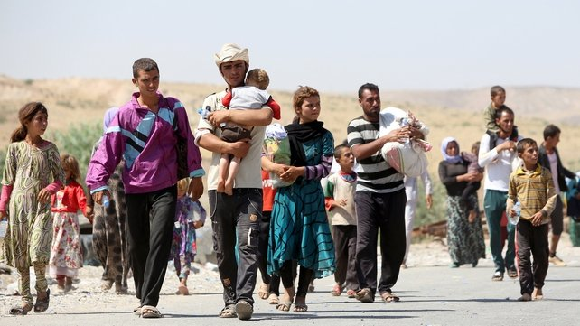 Thousands of Yazidis are fleeing the fighting in northern Iraq