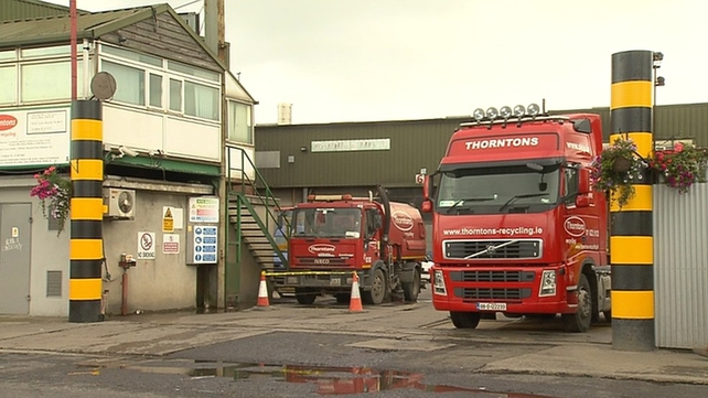 The search of the site at Thornton's recycling plant on Killeen Road in Ballyfermot has ended