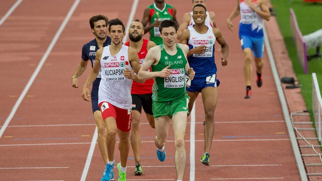 Mark English won his heat to move into the semi-finals in Zurich
