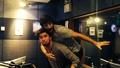 Eoin Macken in studio with Eoghan