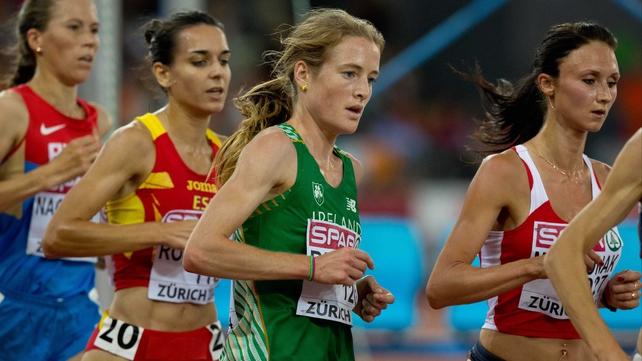 Fionnuala Britton runs in the marathon on Saturday