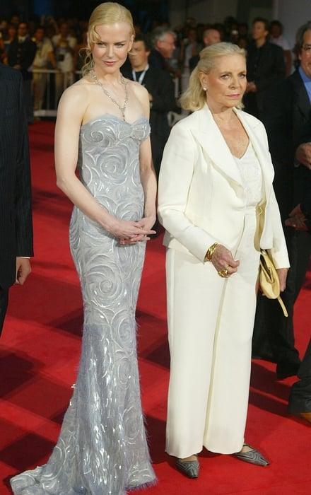 Nicole Kidman and Lauren Bacall