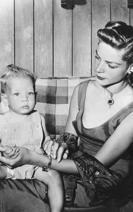 Lauren Bacall and son Stephen Bogart