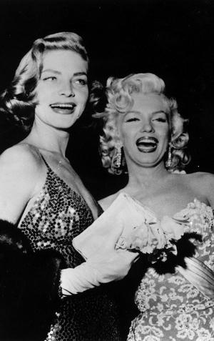 Lauren Bacall and Marilyn Monroe, 1954