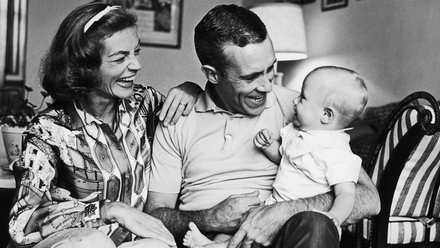 Lauren Bacall, Jason Robards and son Sam