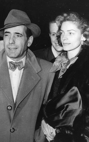 Lauren Bacall and husband Humphrey Bogart, 1951