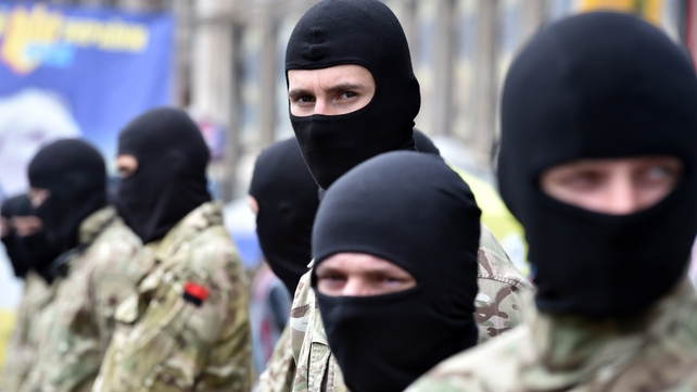 The Right Sector played a big role in Kiev street protests early this year