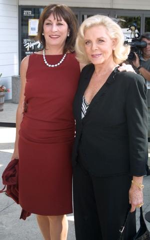 Anjelica Huston and Lauren Bacall, 2001