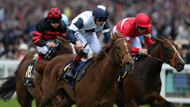 Anthem Alexander wins the Queen Mary Stakes at Royal Ascot
