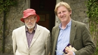 Author JP Donleavy with Adrian Dunbar in the new documentary