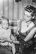 Lauren Bacall with her son Stephen Humphrey, 1948