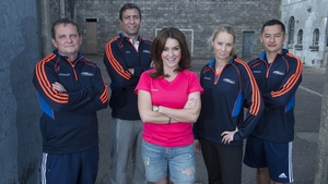 The coaches with presenter Mairead Farrell