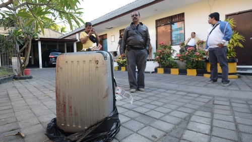 The 62-year-old woman's body was found in this suitcase