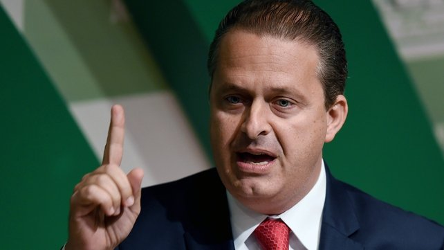 Eduardo Campos had been running third in opinion polls