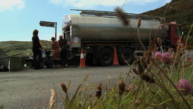 Tankers were used during an earlier water shortage in Cape Clear in August 2014