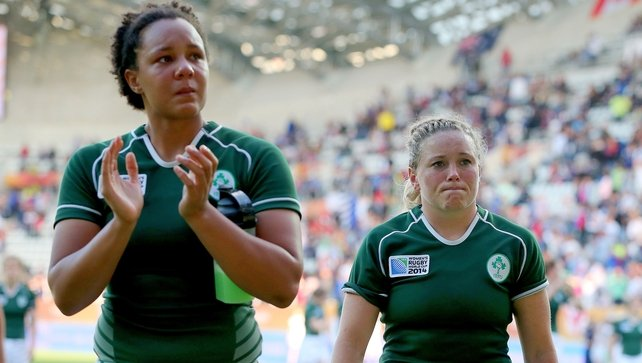 Sophie Spence and Sharon Lynch after the match