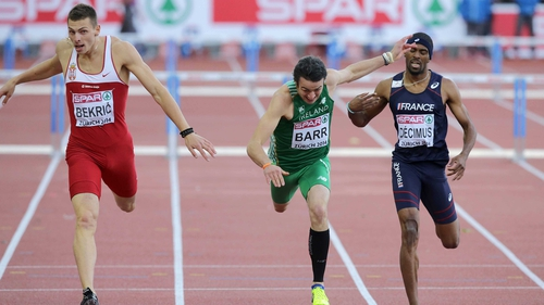 Thomas Barr finished third in his semi-final heat