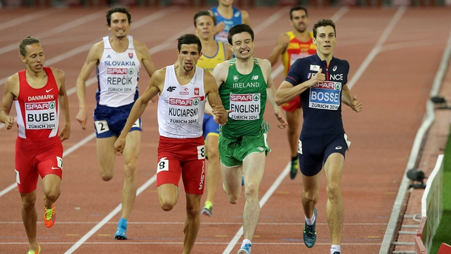Mark English made 800m semi-finals as one of fastest losers