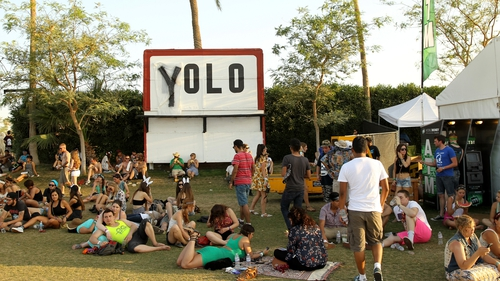 Yolo at the Coachella Valley Music & Arts Festival at the Empire Polo Club