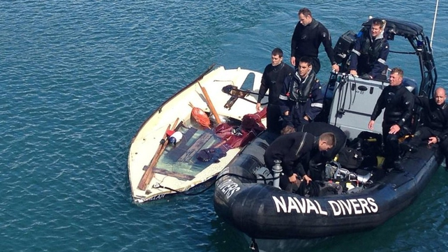The Zillah has been brought back to harbour by the naval divers