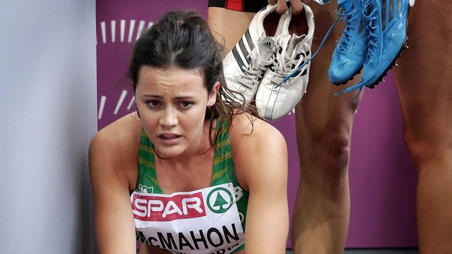 Ireland's Christine McMahon after failing to progress from her semi-final of the women's 400m hurdles