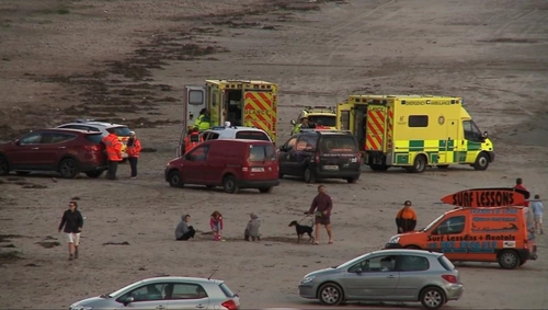 The incident happened at Inch Strand in Co Kerry today